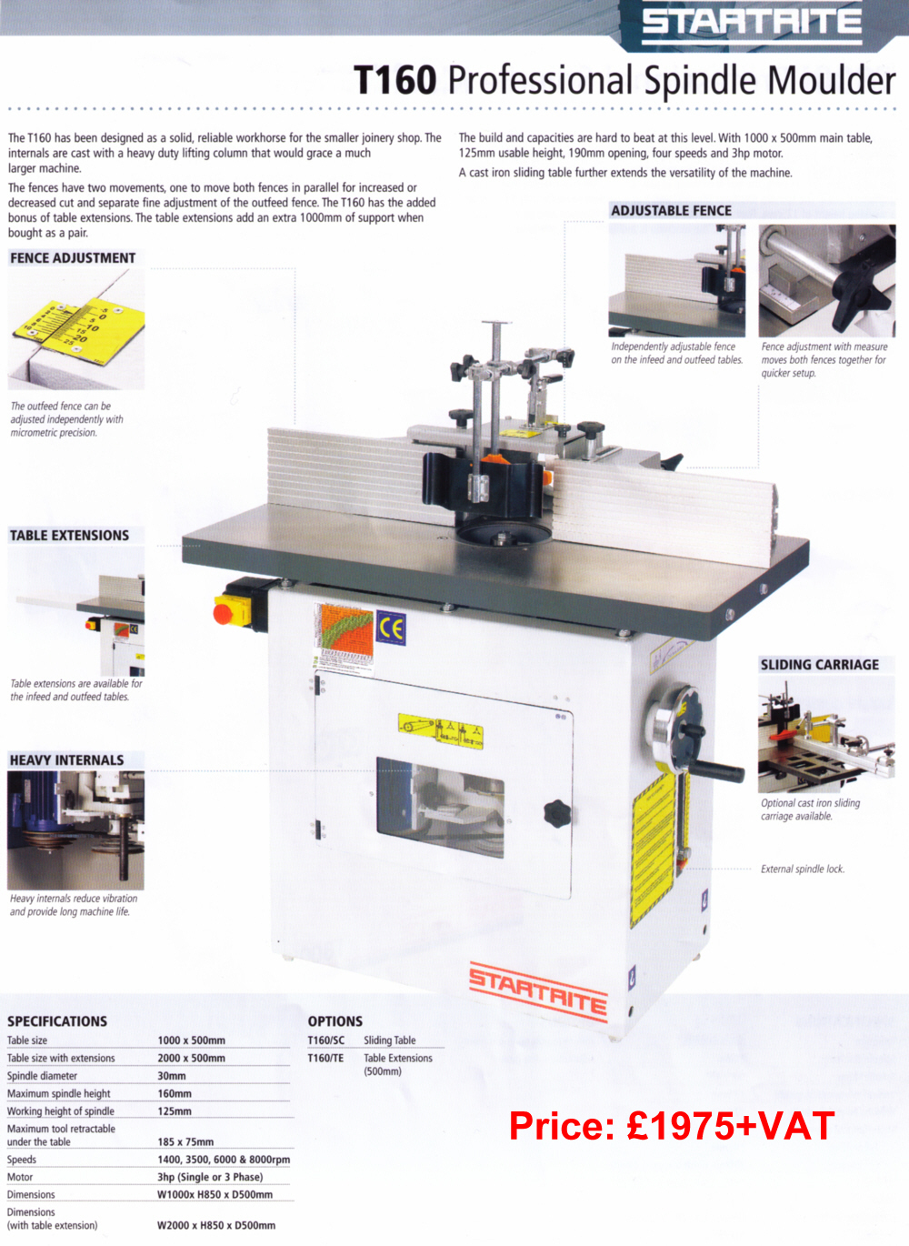 Startrite - T160 Professional Spindle Molder